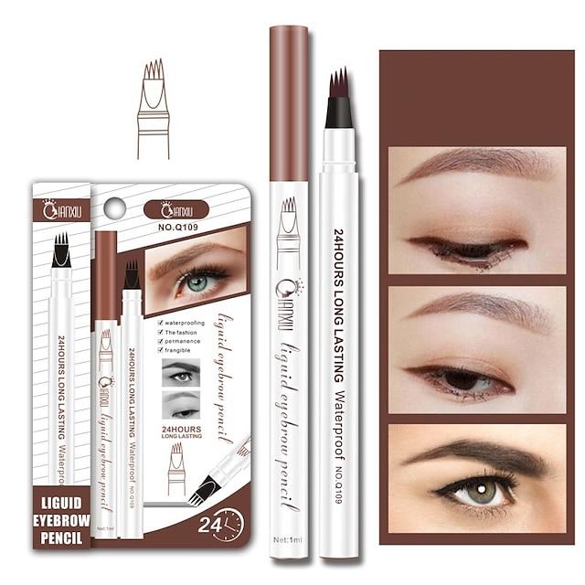 mikroblading øjenbryn tatovering blyant vandtæt gaffel spids øjenbryn pen flydende øjenbryne forstærker farvestof ton