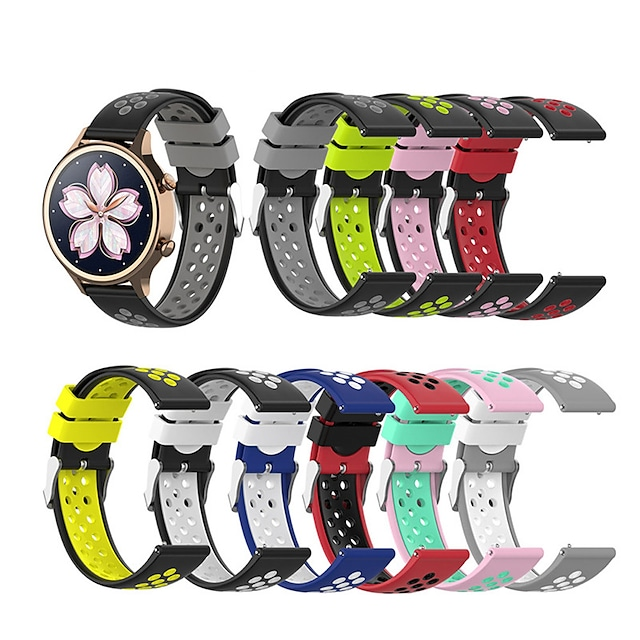 18mm For Ticwatch c2 Silicone Bracelet Sports Band Strap