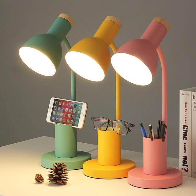 Lampe de bureau protection des yeux réglable trois couleurs dimmable LED lampe de chevet pour chambre bureau bureau AC100-240V lampe enfichable