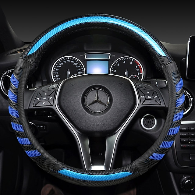 fashion Car Steering Wheel Covers Leather 38cm Breathable Anti Slip For benz Four Seasons Auto Accessories