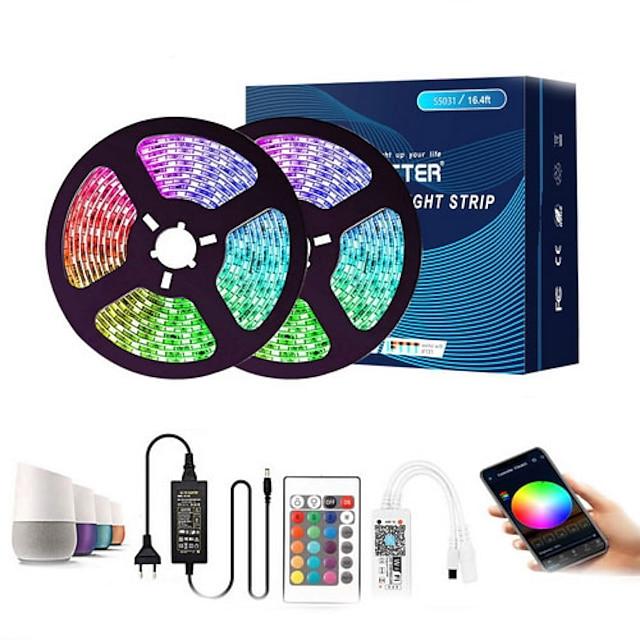 11m 유연한 LED 조명 스트립 300 LED SMD5050 멀티 색상 장식 TV 배경 Tiktok LED 스트립 조명 12 V