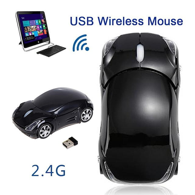Fl01 mouse mouse wireless 2.4ghz 1600dpi formă de mașină defilare optică wireless lumină de respirație șoareci ergonomici pentru tabletă computer laptop laptop