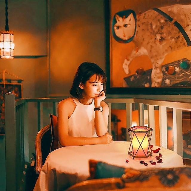 הוביל מנורת שולחן טעינה בר עמיד למים ואנטי נפילה בר בר מסעדה אווירה צבעונית צבעונית שינוי מנורת ארוחת שינה חדר שינה אור