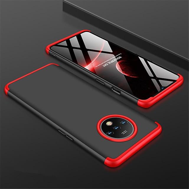 טלפון מגן עבור OnePlus כיסוי אחורי אחד פלוס 7 ט ' אחד בתוספת 7T Pro מזוגג צבע אחיד PC