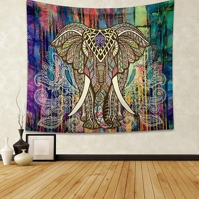 mandala bohemian wandtapijten art decor deken gordijn opknoping thuis slaapkamer woonkamer slaapzaal decoratie boho hippie indische olifant