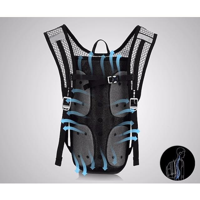 5 L キャメルバック&ハイドレーションパック サイクリングバックパック 多機能の 防水 通気性 自転車用バッグ オックスフォード 自転車用バッグ サイクリングバッグ 同様のサイズの電話 マルチスポーツ