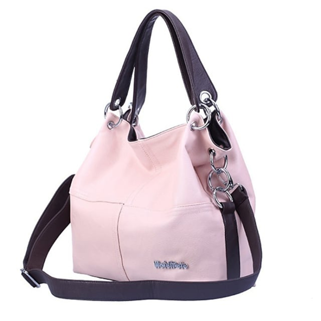 Women's Bags PU Leather Tote Zipper Solid Color Daily Leather Bags Handbags Black Blushing Pink Khaki Green