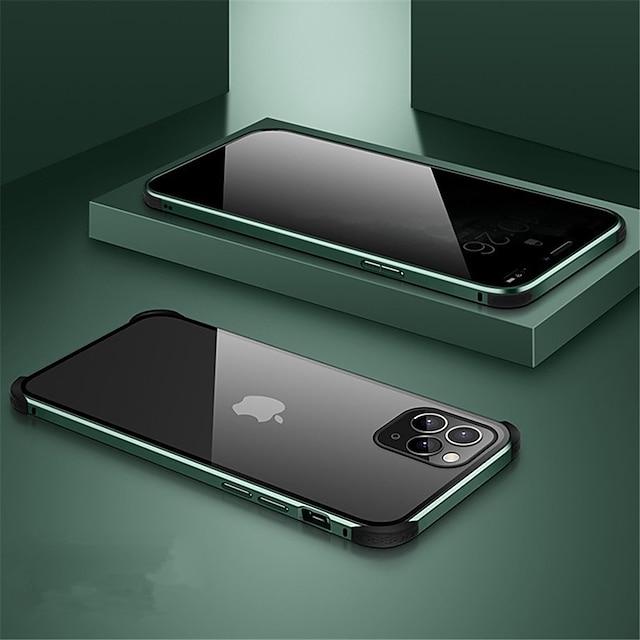 τηλέφωνο tok Για Apple Πλήρης Θήκη Θήκη μαγνητικής προσρόφησης iPhone 11 iPhone 11 Pro iPhone 11 Pro Max Μαγνητική Διπλής όψης Διάφανο Μονόχρωμο Ψημένο γυαλί Μεταλλικό