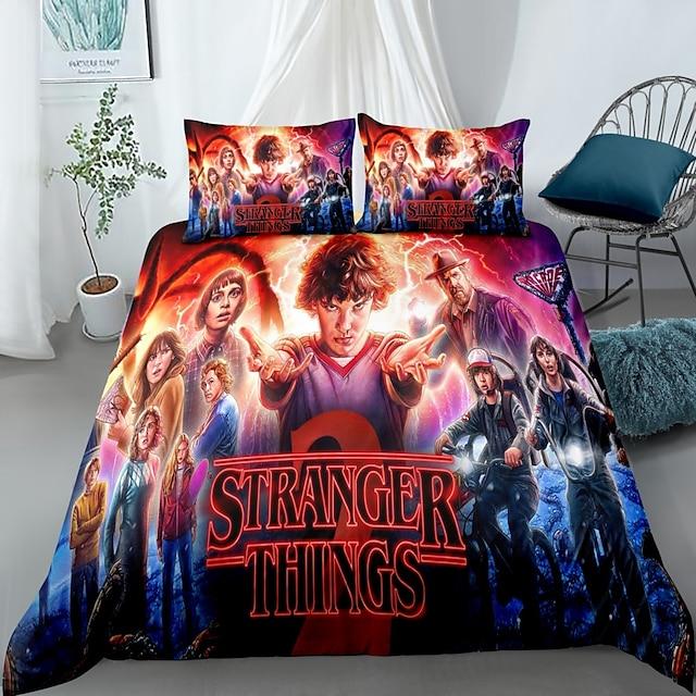 Stranger Things textiles de maison 3d ensemble de literie housse de couette avec taie d'oreiller 2/3 pcs chambre housse de couette ensembles literie