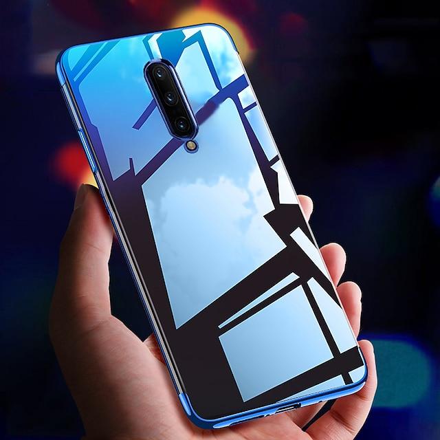 โทรศัพท์ กรณี สำหรับ OnePlus ปกหลัง ซิลิโคน เคสซิลิโคน OnePlus 8 Pro OnePlus 7 โปร OnePlus 6T กันกระแทก การชุบ บางเฉียบ โปร่งใส TPU ซิลิโคน