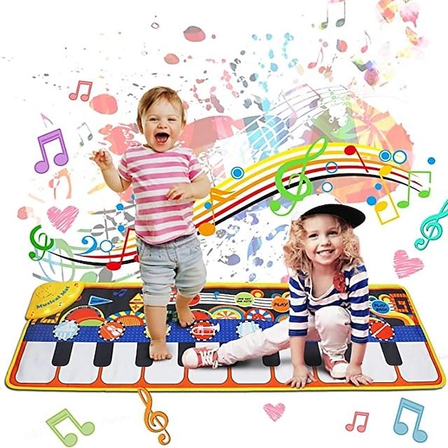 Παιχνίδι πληκτρολογίου Μουσικό παιχνίδι Mat Όροφος 19 Piano Key Piano Playmat Εκπαιδευτικά παιχνίδια Ύφασμα Αγόρια και κορίτσια Παιδιά Δώρα αποφοίτησης Παιχνίδια Δώρο / CE