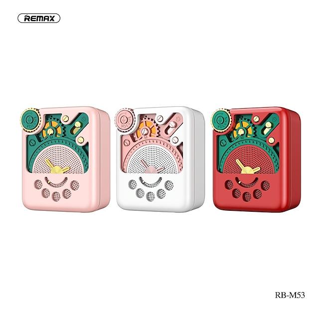 Remax RB-M53 Smart Voice Bluetooth Speaker Portable Mini Radio TF Card Medium and High Bass Speaker