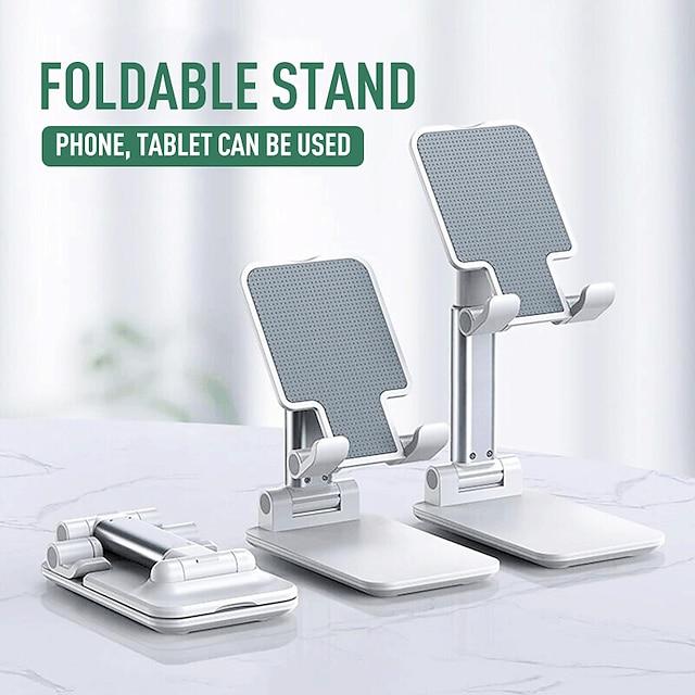 Uchwyt do telefonu Łóżko Biurko iPad Telefon komórkowy Tablet Stojak na telefon Regulowany Nowy design Metal Dodatek do telefonu iPhone 12 11 Pro Xs Xs Max Xr X 8 Samsung Glaxy S21 S20 Note20