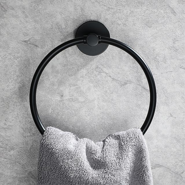 ที่แขวนผ้าเช็ดตัว ดีไซน์มาใหม่ ร่วมสมัย เหล็กกล้าไร้สนิม ห้องน้ำ แหวนผ้าเช็ดตัว ติดผนัง