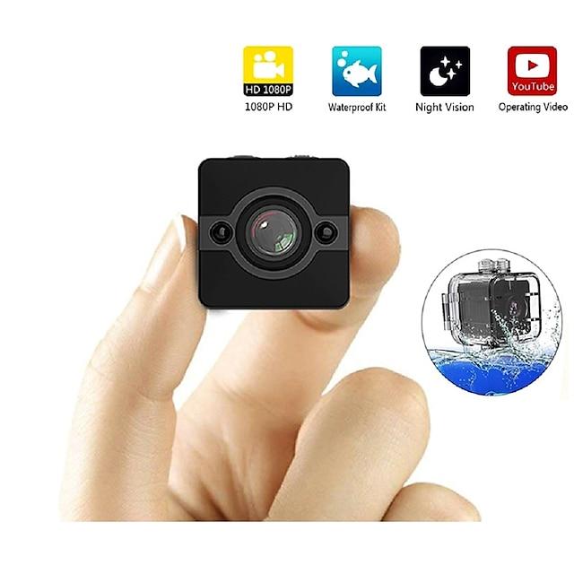 sq12 mini ip kamera hd 1080p vodotěsný širokoúhlý objektiv videokamera sportovní dvr infračervené noční vidění micro cam malé kamery