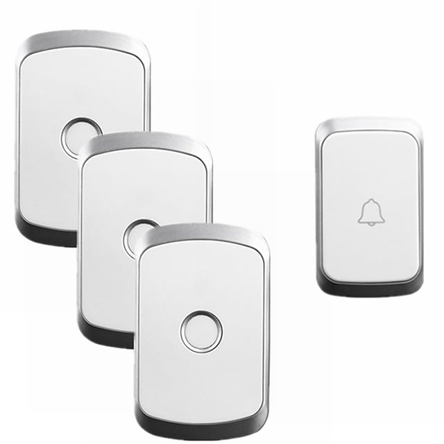CACAZI A20 Home Security Wireless Music Doorbell Kit Waterproof AC 110-220V 300M Remote Wireless Door Bell 1 Button 3 Receivers