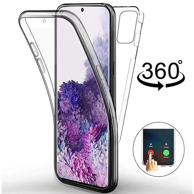 Telefon Hülle Handyhüllen Für Samsung Galaxy Ganzkörper-Gehäuse Silikon Silikonhülle S20 Ultra A91 / M80S A51 Stoßresistent Ultra dünn Transparent Durchsichtig TPU Silikon