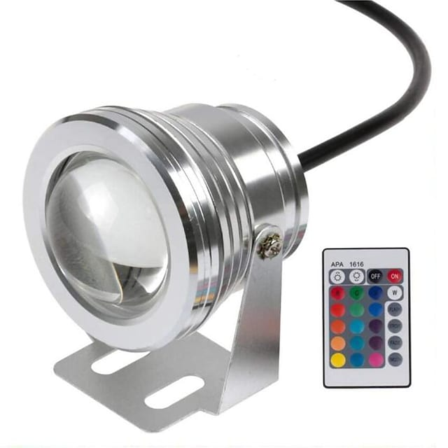 수 중 빛 12v 10w rgb 투광 조명 색 변경 수 중 풀 빛 다이빙 빛 분수 수족관 조명 브리튼