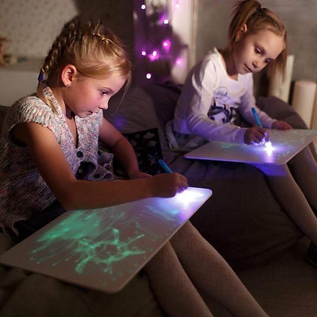 Poučna igračka Daska za crtanje Crtanje svjetlošću plastika LCD Crtajte laganom zabavom Dječji Dečki i cure za rođendanske poklone ili zabave za zabavu