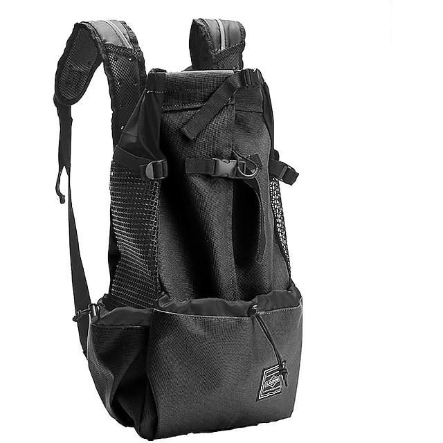 Dog Cat Pets Carrier Bag Travel Backpack Adjustable Breathable Camping & Hiking Classic Terylene Black Red Blue / Foldable