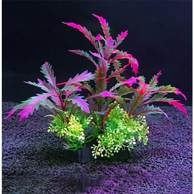 Acquario Decorazioni Acquario Vasca per i pesci Pianta marina Piante artificiali Plastica 27*25 cm