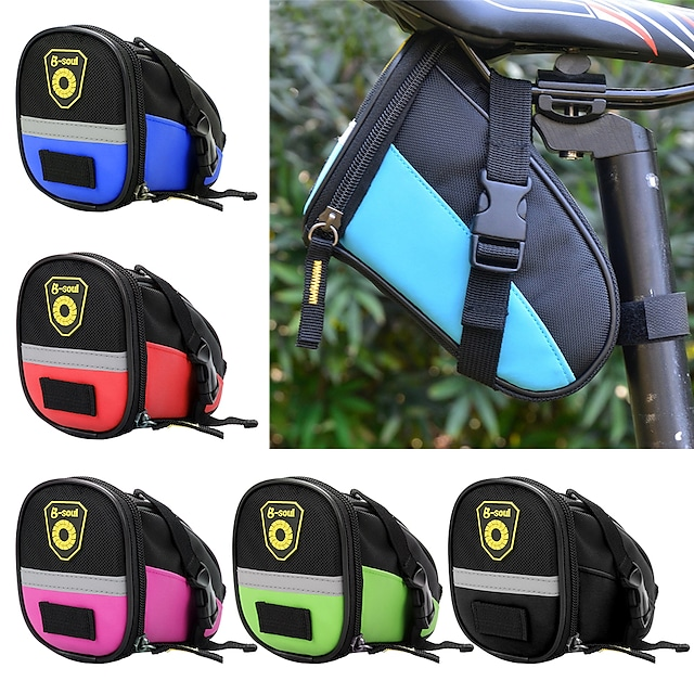 1.8 L Bisiklet Sele Çantaları Yansıtıcı Taşınabilir Bisiklet Bisiklet Çantası 600D Ripstop Bisikletçi Çantası Bisiklet Çantası Dış Mekan Egzersizi