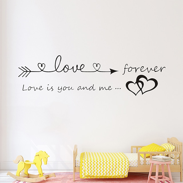 Love Proverbs Wall Stickers Words Quotes Wall Stickers Decorative Wall Stickers PVC Home Decoration Wall Decal Wall Decoration 1pc 17*57cm