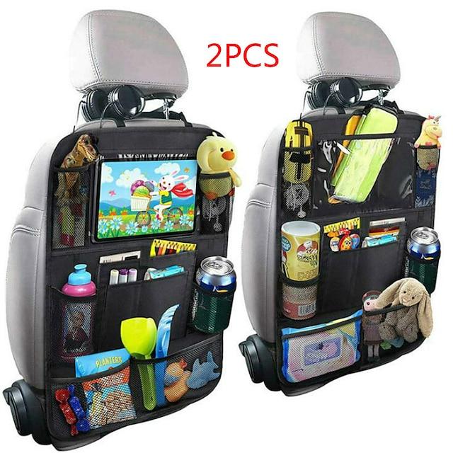 ny ankomst praktisk bil seteryggen arrangør multi-lomme oppbevaringspose eske bil oppbevaringspose nettbrett holder lagring arrangør-2stk