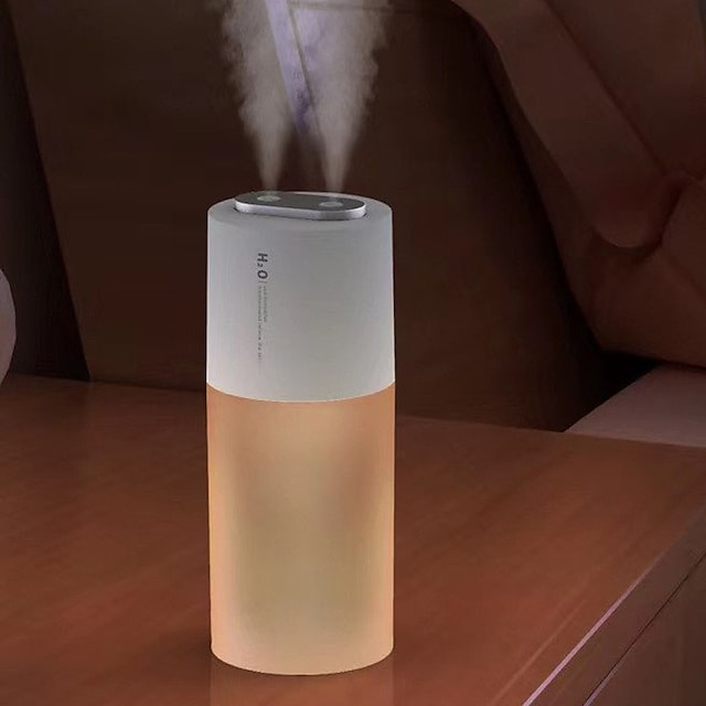1 buc baterie 2200mah umidificator wireless 400ml duză dublă portabilă cu umidificator cu aer ultrasonic umidificator purificator de aer pentru acasă