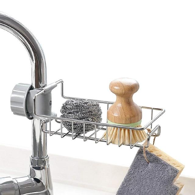nerezová kuchyňská houba držák mýdla na mytí nádobí tekutý odtokový stojan kohoutek odtokový koš na umyvadlo v koupelně