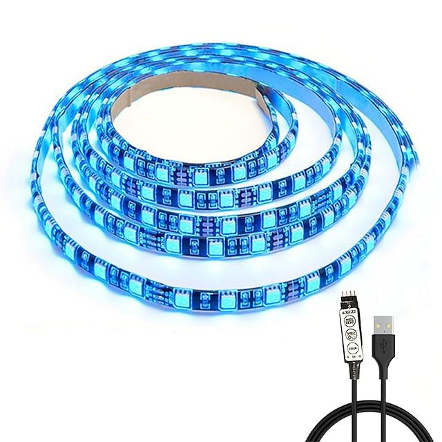 KWB 1m Világítás készletek 60 LED SMD5050 10mm 1set RGB Karácsony Újévi Cuttable Dekoratív Összekapcsolható USB által