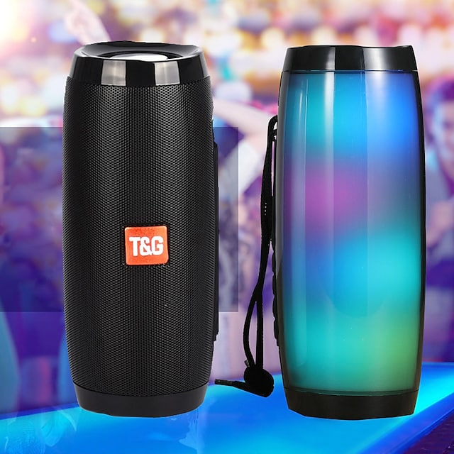 φορητά ηχεία στήλη bluetooth ασύρματο ηχείο bluetooth ισχυρό υψηλής ποιότητας boombox εξωτερική μπάσα hifi tf fm ραδιόφωνο με led φως