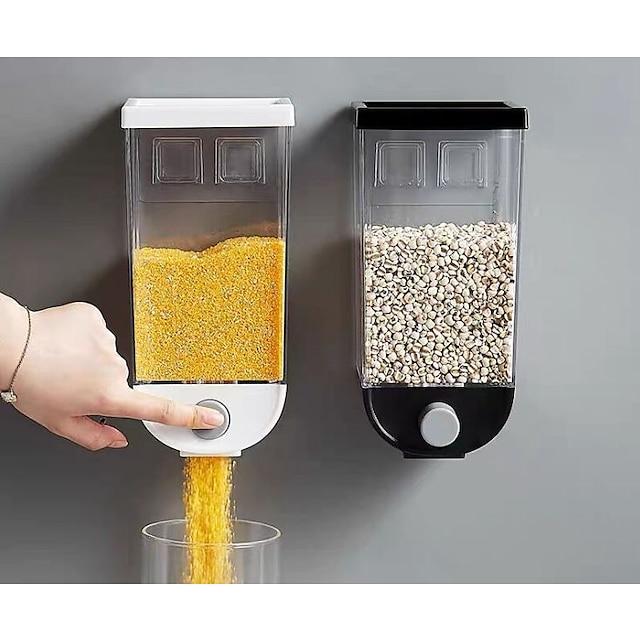 1 шт. Ящик для хранения зерна пластик 1500 мл настенный резервуар для дома зерна фасоль рис контейнер овсянка
