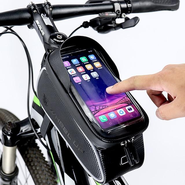 Aufrollen Handy-Tasche Fahrradrahmentasche 6 Zoll Touchscreen Reflektierend Wasserdicht Radsport für Alles Handy iPhone X iPhone XR Schwarz Rennrad Geländerad / iPhone XS / iPhone XS Max