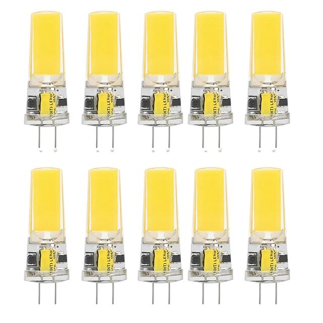10 pcs 10 W LED Gel De Silice Maïs Lumières LED Bi-Pin Lumières G4 2508Cob Haute Puissance LED Parti Créatif Décoratif Lustre En Cristal Source de Lumière Ampoules À Économie D'énergie Blanc Chaud