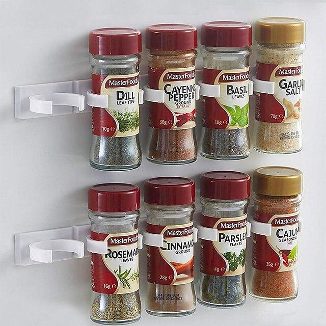 Mutfak şişe baharat organizatör raf dolap kapı baharat klipleri 20-clip set