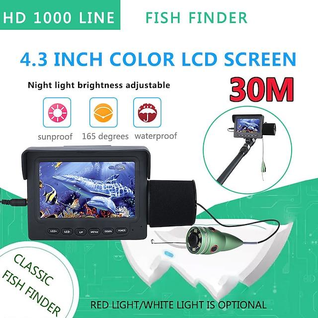 30 메터 1200Tvl 물고기 파인더 수중 낚시 카메라 4.3 인치 모니터 6 개 6 와트 IR led 나이트 비전 카메라 낚시