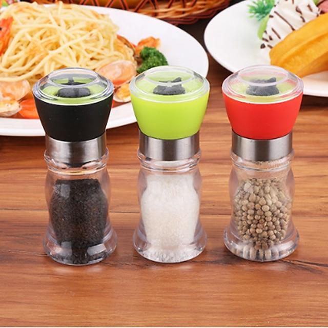 130mm Acrylic Manual Pepper Grinder Salt Spices Mill Shaker Transparent Grinding Tool Milling Cutter Kitchen Dinner