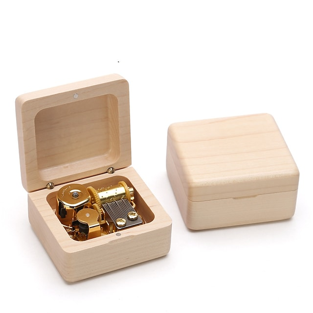 Dřevěná hudební skříňka Antique Music Box Klasický motiv Retro kreativita Rám obrazu Zábavné Jedinečné Dřevěný Chlapecké Dívčí Dětské Dospělé Maturitní dárky Hračky Dárek