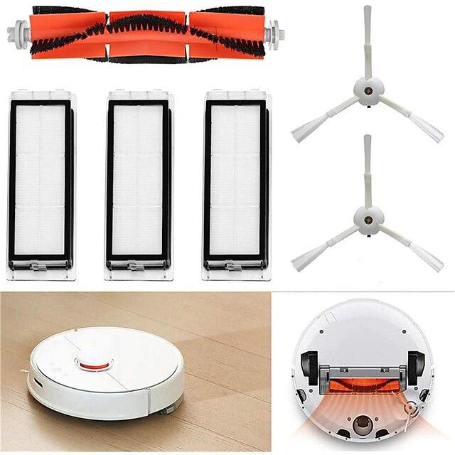 per xiaomi mi robot aspirapolvere ricambi accessori set 1 spazzola principale 2 spazzole laterali 3 filtri lavabili