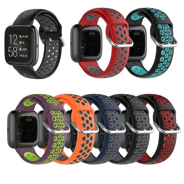 Smartwatch bånd til Fitbit 1 pcs Sportsrem Klassisk spænde Silikone Udskiftning Håndledsrem til Fitbit Versa Fitbit Versa Lite Fitbit Versa 2