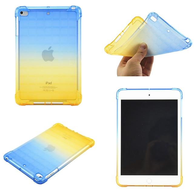 téléphone Coque Pour Apple Coque Arriere iPad Mini 3/2/1 iPad Mini 4 iPad Mini 5 Rotation à 360 ° Antichoc Dégradé de Couleur TPU