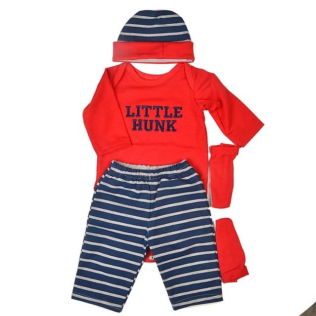 Reborn Baby Dolls Kleidung Wiedergeborenes Puppenzubehör Baumwollstoff für 22-24 Zoll Reborn Doll Reborn Doll nicht enthalten Klassisch Weich Rein handgemacht Jungen 4 pcs