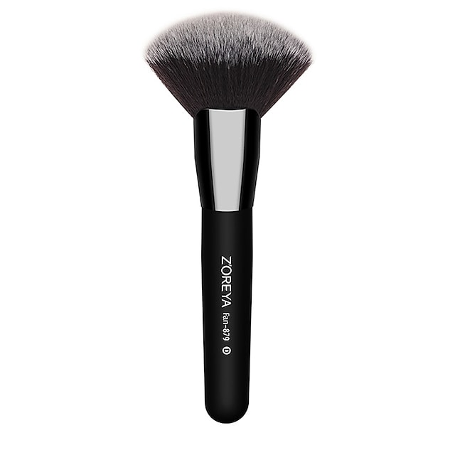 zoreya značka černé dřevěné rukojeti make -up štětce nylon velký vějířový kartáč profesionální kosmetický kosmetický nástroj na tvářenku sypký pudr