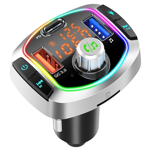 BC63 Bluetooth 5.0 Kit per auto Bluetooth Vivavoce per auto Bluetooth / Auto MP3 modulatore FM / Radio FM Auto