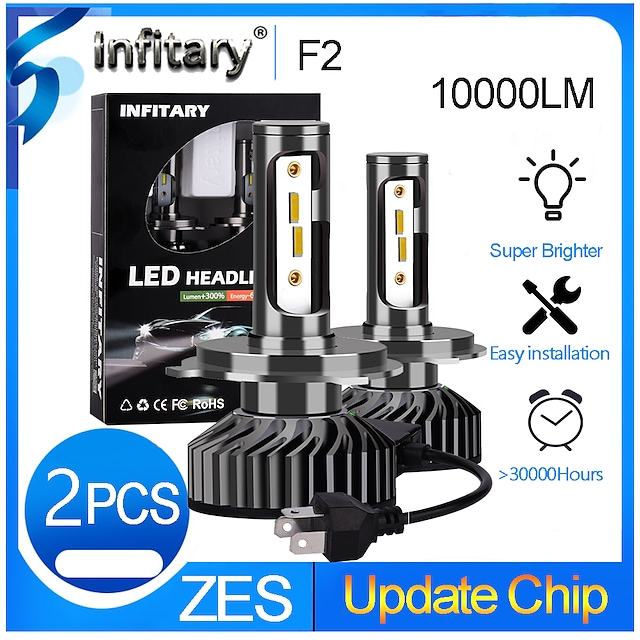 INFITARY 2pcs H7 / H3 / H11 Car Light Bulbs 48 W 10000 lm 12 LED Headlamps For Volkswagen / Toyota / Honda Mazda6 / Odyssey / Fit All years