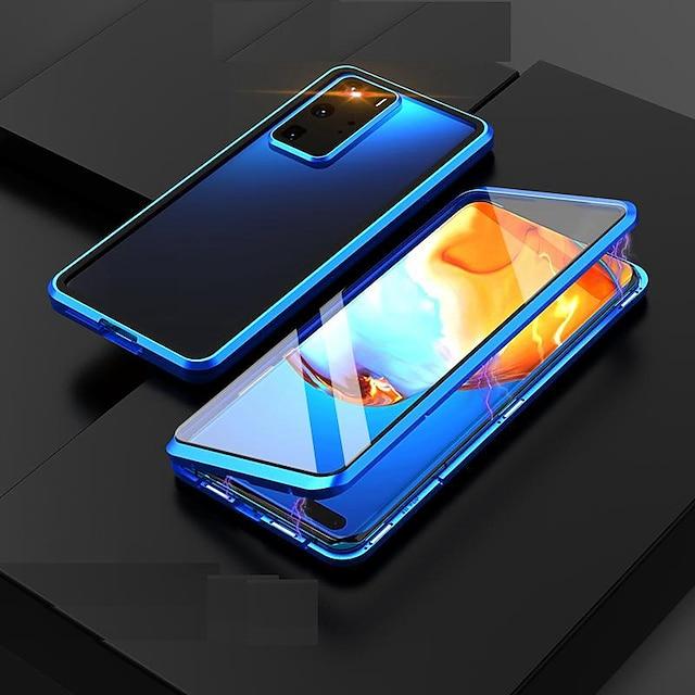 telefoon hoesje Voor Samsung Galaxy Volledig hoesje Magnetische adsorptiekoffer S20 Plus S20 Ultra S20 Galaxy M31 Stofbestendig Transparant Dubbelzijdig Transparant Gehard glas Metaal