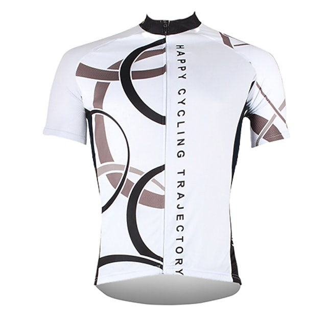 21Grams Men's Short Sleeve Cycling Jersey Summer Polyester White Yellow Red Bike Jersey Top Mountain Bike MTB Road Bike Cycling Ultraviolet Resistant Quick Dry Breathable Sports Clothing Apparel