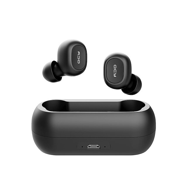 QCY T1C Auricolari wireless Cuffie TWS Senza filo Eliminazione attiva del rumore Stereo Dotato di microfono per Apple Samsung Huawei Xiaomi MI Auricolari
