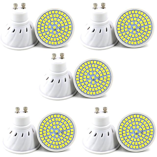 10 개 6PCS 5 W LED 스팟 조명 400 lm GU10 GU5.3 80 LED 비즈 SMD 2835 장식 크리스마스 웨딩 장식 따뜻한 화이트 차가운 화이트 220-240 V